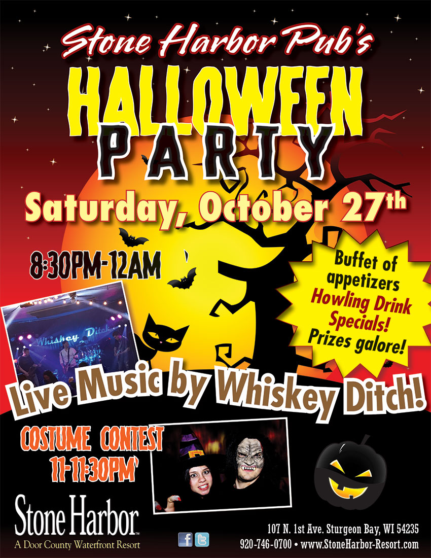 Halloween Party Costume Contest Live Music Saturday