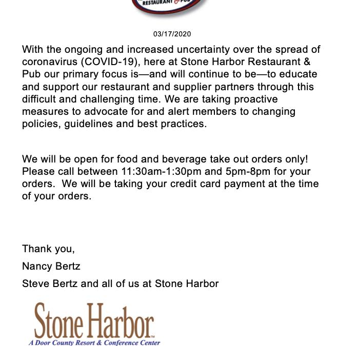 COVID-19 – Response from Nancy Bertz, GM Stone Harbor Resort
