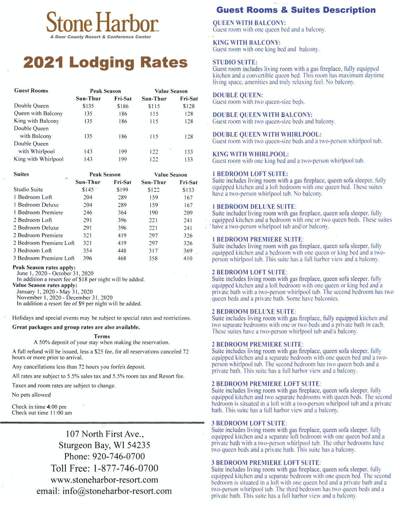 2021 Lodging Rates,Lodging Near Me, Stone Harbor Resort,Door County Lodging,Door County Motels,Door County Hotels
