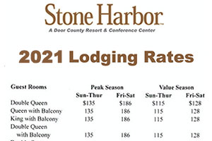 2021 lodging rates,lodging near me,wisconsin lodging,door county lodging,places to stay in door county,door county weddings,lodging specials