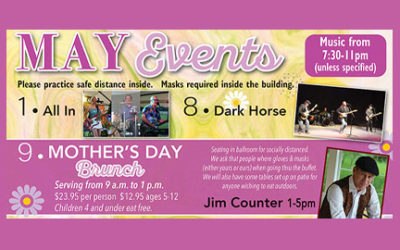 May Events ~ Happy Mother's Day ~ Join us in Door County!