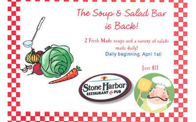 Soup & Salad Bar is back!